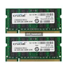 New 4GB 2x2GB PC2-5300 DDR2 667MHZ PC5300 200Pin Laptop RAM Memory Sodimm