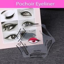 Pochoir eyeliner 1 pièces 6 formes outils de maquillage fard à paupière