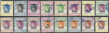 Hong Kong 1954 Qe 'Contract Note' Revenues Complete Set to $50 (16) Used Cv£106