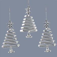 Premier Albero di Natale Vetro Decorazioni/ Stalattiti/natività/angeli/alberi Confezione da 3 Alberi