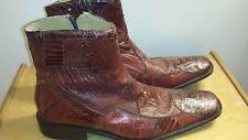 David Eden Exotic Ostrich Above The Ankle Leg Boots w/Zipper Size 11 MEN'S
