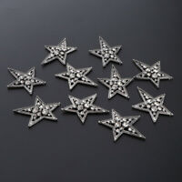 10Pcs Star Shape Rhinestone Crystal Embellishment Buttons Flatback DIY Craft