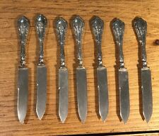7 Matching WHS Co. Saart Bros. Germany Sterling Silver Fruit Knives