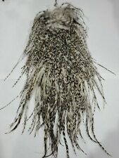 New listing Barred Grizzly Dun Rooster Saddle Cape Fly Tying Fishing Hackle Feathers