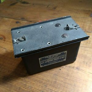 WWII U.S. NAVY COIL SET CONTAINER TYPE CW-47082  DATED 4/21/41 WESTERN ELECTRIC