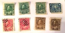 8 Canada CANADA 1,2,3,4 cent 1900's stamps some WAR TAX all Perf 12