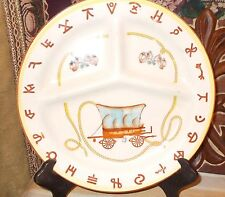 Set (4) Antique Fred Roberts [Made in Japan] Divided Western Dinner Plates