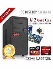 PC AMD APU A12 X4 9800 Quad Core/Ram 8GB/PC Assemblato Barebone Computer Desktop