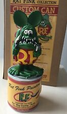 """Rat Fink Collection Paint Custom Can Painters' 8"""" Statue Figure Green Ed Roth"""