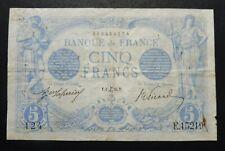 5 Francs Bleu - 1er décembre 1916