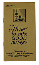 How to Mix Good Drinks ~ HIRAM WALKER ~ Vintage Cocktail Mixing Guide Whisky