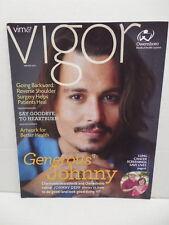 Vim & Vigor Magazine Winter 2012 Johnny Depp Photo Cover And Article