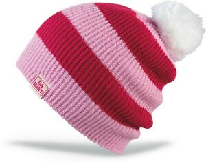 Dakine COLETTE Kids Youth 100% Acrylic Pom Beanie Pink Mulberry NEW Sample