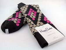 Happy Socks Men's Brown with Gray Pink Snake Scale Cotton Socks 10-13