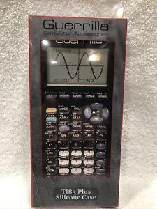 Guerrilla TI83 Plus Silicone Case Cover For Texas Instruments Calculator-Black