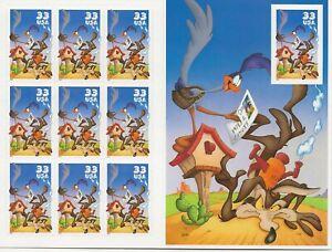 2000 33 cent Roadrunner full Sheet of 10, Scott #3391, Mint NH