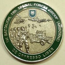 19th Special Forces Gp Airborne 1st BN OIF OEF Phillipines Army Challenge Coin