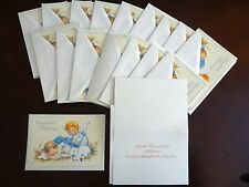 Lot of 18 Holiday Greeting Cards & Envelopes CHRISTMAS BLESSINGS Baby Angel Lamb