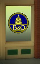 MILLER ENGINEERING B&O NEON WINDOW SIGN KIT HO/O SCALE train railroad 9060 NEW