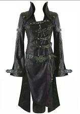 Leather Punk Rave Shadow coat Size M 10-12 gothic vampire