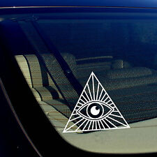 x2 / Two Pack of All Seeing Eye Masonic Government Illuminati Decal Sticker 5""