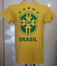BRAZIL BOYS YELLOW CREST TEE SHIRT SIZE BOYS 12/13 YEARS OFFICIAL MERCHANDISE