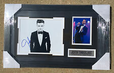 PSA/DNA 20/20 Experience JUSTIN TIMBERLAKE Signed Autographed Framed Photo COA