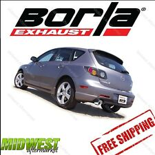 Borla S Type CatBack Exhaust For 2004-2009 Mazda 3 Sedan Hatchback 2.3L 4cyl FWD