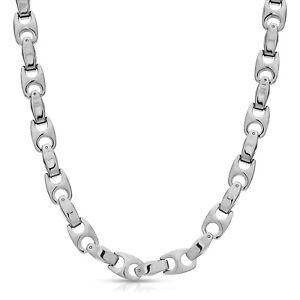 6.0 mm Biker Tungsten Carbide Men's Necklace (TUC002) - FREE SHIPPING !