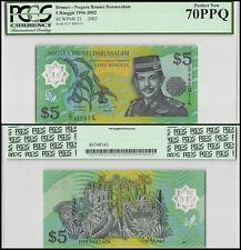Brunei 5 Ringgit, 1996-2002, P-23, UNC, PCGS 70 PPQ