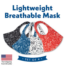 4 Colors! Face Mask Paisley Reusable, Washable, Protection, Cover, Breathable