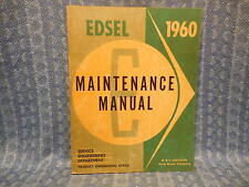 1960 Edsel Original Oem Shop / Maintenance Manual Ranger Villager