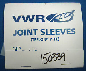 VWR  TEFLON  JOINT  SLEEVES  34/45  X6  NEW  OLD  STOCK  FREE  SHIPPING