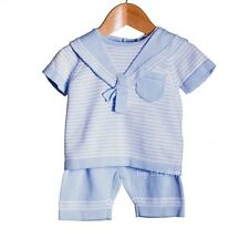 Baby Boys Fine Knit Cotton Top & Shorts Nautical Theme Zip Zap 0-3 3-6 6-9m