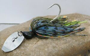 Custom Made Bent Blade Vibrating Swim Jig 11 Blue Gill Colors to Chose From