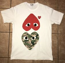 Comme Des Garcons Play Mix Heart Tee (Size Men's Large) 100% AUTHENTIC.