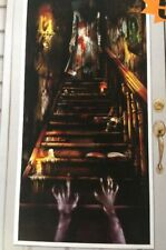 HAUNTED MANSION DOOR COVER Halloween Party Decorations Scene Setter Stairs House