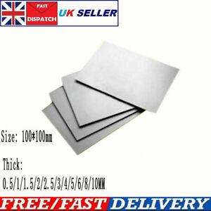 Titanium Ti Sheet Plate Square Board Thick 0.5-10MM ASTM Grade 2 100*100mm