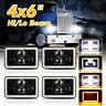 4pcs 4x6'' LED Headlights Hi/Lo w/DRL For Peterbilt 379 378 Freightliner FLD120