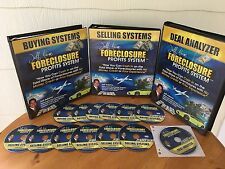 Foreclosure Profits System Real Estate Course By Jeff Adams 3 MANUALS & 13 CD'S!