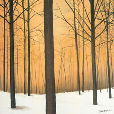 """36W""""x36H"""" WINTER WARMTH by PATRICK ST. GERMAIN - FOREST BARK CHOICES of CANVAS"""