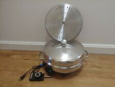 """FARBERWARE 344A 12"""" Electric Skillet - Dome Lid - Aluminum Clad - Cord - Tested"""