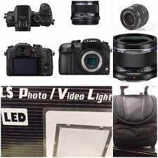 Panasonic LUMIX DMC-GH3 16.0MP Digital Camera -black with 2 lights,accesores,mem