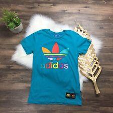 Adidas Women's Graphic T-Shirt Trefoil Colorful Top Women's XS XSmall