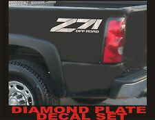 Z71 Offroad Decals (Set) DIAMOND PLATE CHROME for Chevrolet Silverado CHEVY