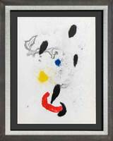 Joan MIRO Original COLOR Lithograph, 1963 w/Custom Frame & Free Ship