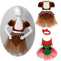 Baby Girls Romper Christmas Elk Costume Reindeer Elf Dress Outfits Xmas Party