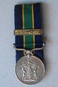 Rhodesian BSAP Long Service Medal with Bar Const. Chibowora Rhodesia