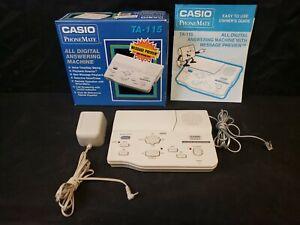 Casio PhoneMate TA-115 All Digital Answering Machine Phone Mate IOB Landline