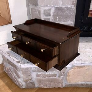 Vintage Pennsylvania House Wood 2-Drawer Dresser Sewing Writing Desk USA Made